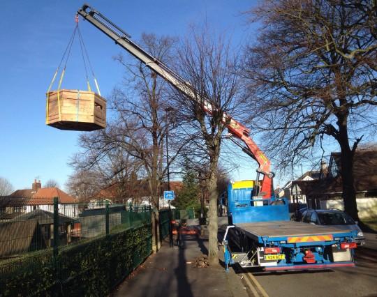 Delivery of play equipment to Aerodrome Primary School, Croydon