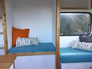 Caravan Conversion - Book Nook - Learning outside the classroom