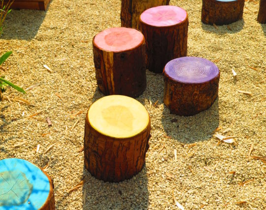 Logs - painted - seats