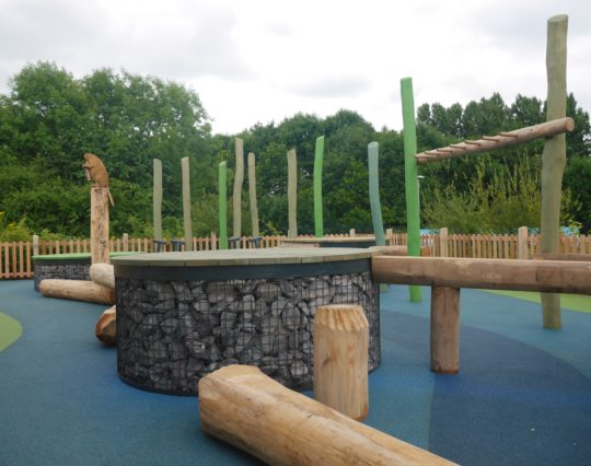 Lee Valley Park Authority - Play Area - White Water Rapid - Natural play area - public park play area