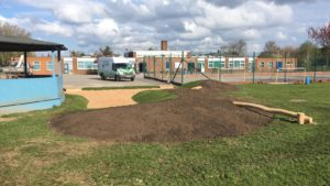 A new sand pit for Goxhill School