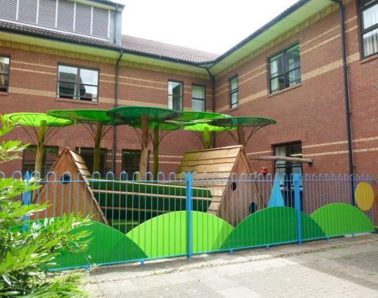 Hospital play area - Paediatric Ward play area - children in hospital - Burton Hospital