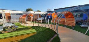 SEN school courtyard